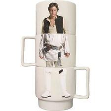 Star Wars Stacking Mugs Official Set of 4 Luke Skywalker Han Solo Stormtrooper
