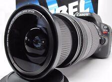 Ultra Wide Angle Macro Fisheye Lens for Canon Eos Digital Rebel w/ 28-135 18-200