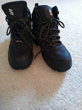 Mens Black Leather WORK FORCE Shop  BOOTS SIZE 10M  NEW!!!
