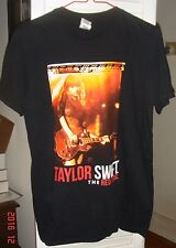 Taylor Swift The Red Tour Concert Shirt Size Small 2 sided black Cities on back