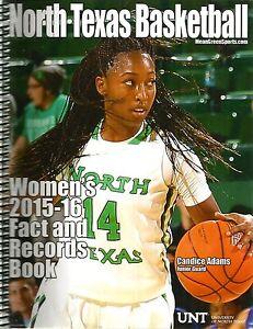 2015-16 North Texas Women's Basketball Media Guide