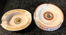 Vintage German Beer Advertising Ashtray - Lot Of 2 - Patrician Beer / Master Bra