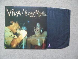 Viva! Roxy Music UK Island LP 1st Issue
