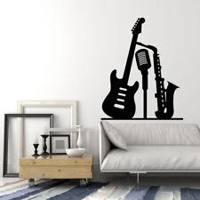 Vinyl Wall Decal Saxophone Guitar Microphone Music Club Stickers Mural (g941)
