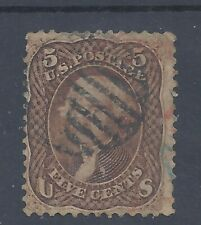 USA 1861 JEFFRSON  5c USED  SG 72 (#1)