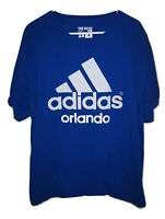 Adidas Logo Go To Tee Orlando Blue T Shirt Mens Florida Short Sleeve 2XL/XXL
