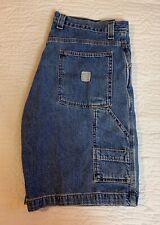 Faded Glory Blue Jean Carpenter Shorts Multi Pocket Men Size 36