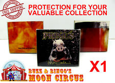 1x MUSIC CD CARDBOARD CD CASE - CLEAR PLASTIC PROTECTIVE BOX PROTECTOR SLEEVE