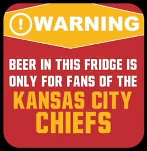 Kansas City Chiefs MAGNET Beer in this Fridge Warning! NFL Football KC AFC