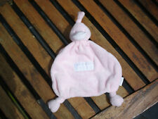 BAMBAM BABIES PALE PINK DUCK BABY COMFORTER SOFT TOY