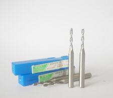 2Pcs Extra Long(60mm) 2mm 2 Flute HSS & Aluminium End Mill Cutter CNC Bit