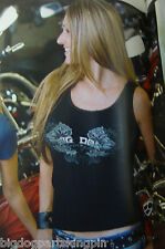 BIG DOG MOTORCYCLES LADIES DOUBLE GUNS BEATER TANK  MEDIUM SHIRT K-9 MASTIFF