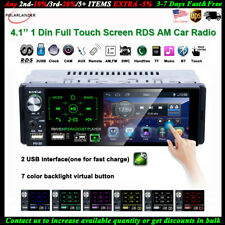 4''1 Din Car Radio Full Touch Screen 2USB RDS FM Bluetooth AM MP5 Player Stereo