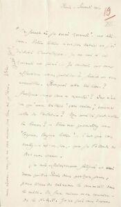 André GIDE -  Lettre autographe signée à Marcel JOUHANDEAU.  Juillet 1926