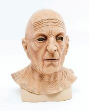 Old Man Wrinkled Mask Overhead Latex Fancy Dress Costume Head And Neck New