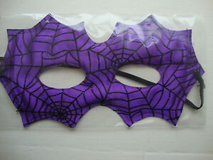 Halloween Eye Mask Fancy Dress Party mask Purple with Black Cobwebs Masked Ball