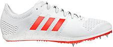 adidas Adizero Avanti Mens White Orange Athletic Running Field Spikes Trainers UK 8