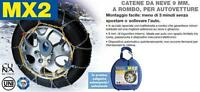 SNOW CHAIN CHAINES A NEIGE SCHNEEKETTE AUTOMATICHE MX2 9mm ROMBO GR 10 205/70-15