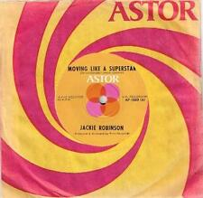 "JACKIE ROBINSON - MOVING LIKE A SUPERSTAR - RARE 7"" 45 VINYL RECORD - 1976"