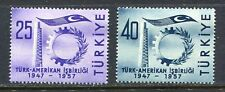 30894) TURKEY 1957 MNH** Turkish-American collab. 2v.