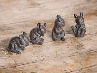 4pc Resin Mice Garden Ornaments Mouse Statue Pond Decor Garden Decorations Lawn