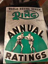 """MAGAZINE """"THE RING""""BOXING  WORLD BOXING REVIEW  FEB. 1955 ANNUAL RATINGS"""