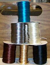 """50 FEET OF TAN 1/8"""" (2mm) SATIN NECKLACE CORD ONLY $0.10 A FOOT"""