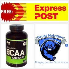 Optimum Nutrition BCAA 1000 caps  200 capsules FREE EXPRESS POST