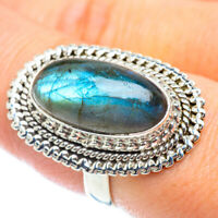 Large Labradorite 925 Sterling Silver Ring Size 8 Ana Co Jewelry R54139