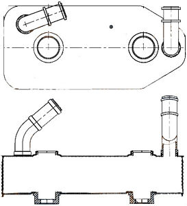 Automatic Transmission Oil Cooler fits SEAT Toledo II  1M2 Mahle 1999 - 2006