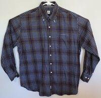 PETER MILLAR Mens Button Down Long Sleeve Shirt Plaid SIZE XL Extra Large