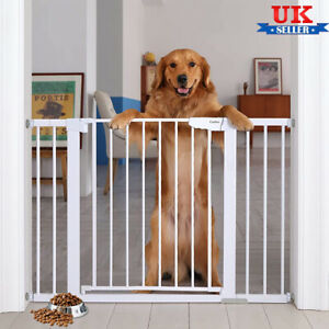 Baby Pet Gate Stair Way Safety Fixed Board for Door Extra Wide Tall Lock Walk