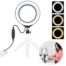 LED Ring Light Lamp Selfie Camera Phone Studio Tripod Photo Video Dimmable 3Mode