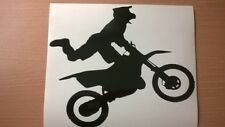 Motorcross moto dirt bike Silhouette Vinyle Autocollant Voiture Mur Art Racing boue
