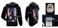 Felpa Star Wars Originale Nera Dart Vader Fener Sweat Sweatshirt con cappuccio