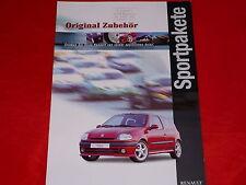 RENAULT Twingo Clio Sportpakete Zubehör Prospekt von 1999