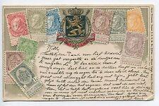 Ottmar Zieher Embossed Stamp Postcard Belgium Used 1905 Belgium Cancel  B4125
