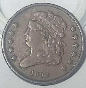 Better Date 1832 Classic Head Copper Half Cent
