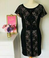 PEPPERBERRY Bravissimo Dress Size 10 BLACK | Lace Super CURVY Special Occasion