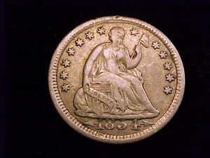 1854 with Arrows Half Dime, Fine in Grade.  A nice coin.