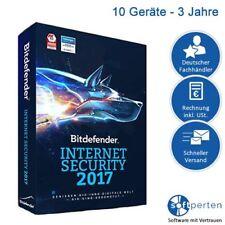 Bitdefender Internet Security 2017 & 2018, 10 PC - 3 Jahre, Download