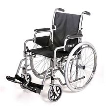 Roma 1000 Self Propelled Standard Steel Wheelchair With Fold Down Back