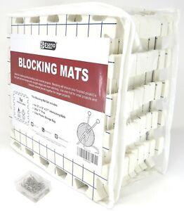 "Eseno ® 12"" x 12"" Extra Thick Blocking Mats for Knitting Needlework Crochet NEW"