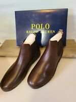 Polo Ralph Lauren Men's Size 12 Talan Leather Chelsea Boot Brown NWB