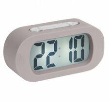 Reloj Despertador Karlsson Gris Goma LED Digital De Goma