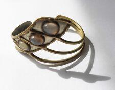 VIntage 70s Handmade Asymetral Modernist Brutalist Brass Cuff BRACELET