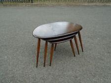 Lovely Elm Vintage Ercol Nest Of 3 Pebble Side Tables