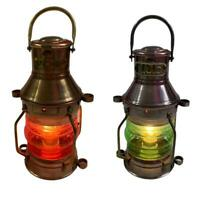Copper Finish Nautical Maritime Electric Ship Lantern Marine Boat Light Decor