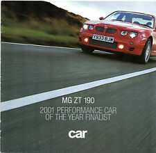 MG ZT 190 2001-02 UK Market Road Test Brochure Car