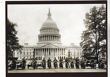 """Postcard-""""The Motorcycle Cops"""" front of Capital Building- postcard"""